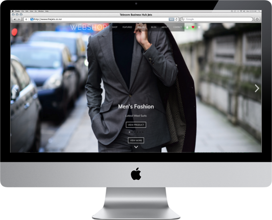 iMac showing website